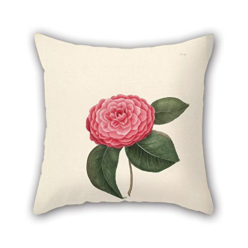 MaSoyy Flower Throw Pillow Case 18 X 18 Inches / 45 By 45 Cm Best Choice For Floor Teens Girls Kids Girls Dining Room Teens With Double Sides
