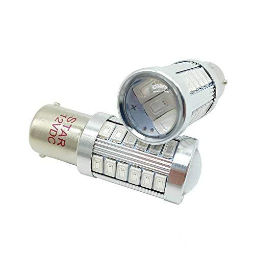 P21W 1156 BA15S 12VDC ampoules de signal inversé, ampoule à LED, 33-SMD5730 LED, Super Bright Auto Light, Couleur: rouge (pack de 2)