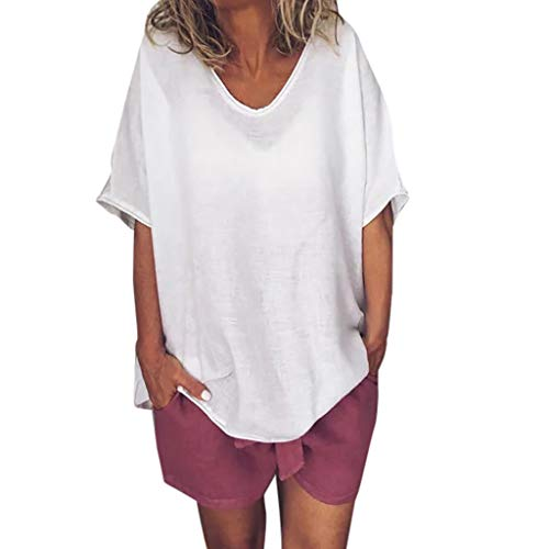 ESAILQ Damen Ultra Damen Pique-Poloshirt Basic(XXXXXL,Blau)