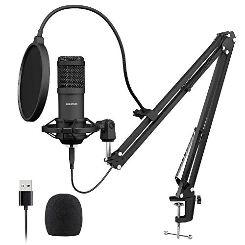 USB Streaming Podcast PC Microphone, SUDOTACK professional 192KHZ/24Bit...