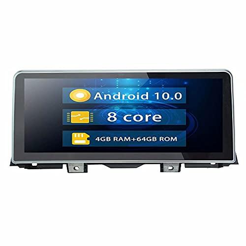 ROADYAKO 12.3Inch Android 10.0 Navegación GPS para automóvil para BMW 5 Serise 5Seirse GT X3 2011 2012 X5 X1 2010 2011 2012 7Serise 2009 2010 2011 2012 Coche Original con Sistema CIC Auto Radio