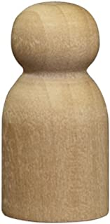 Wood Doll Bodies - Little Baby/Game Pawn 1-1/8 inch - Bag of 100