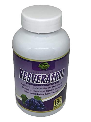 41ngezUcubL - Resveratrol Supplement for Whole Health, 90 Day Supply Antioxidant Capsules Resveratrol 1000mg for Brain Health and Cardiovascular Support, Maximum Strength Resveratrol Anti-Aging Supplement