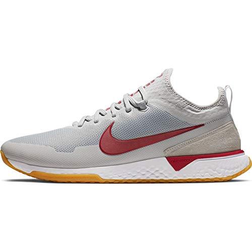 Nike FC, Scarpe da Calcetto Indoor Unisex-Adulto, Multicolore (Wolf Grey/Noble Red/White 000), 41 EU