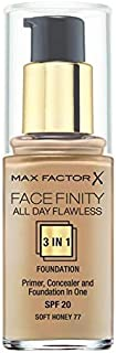 Max Factor Facefinity 3 in 1 Foundation - 30 ml, 77 Soft Honey