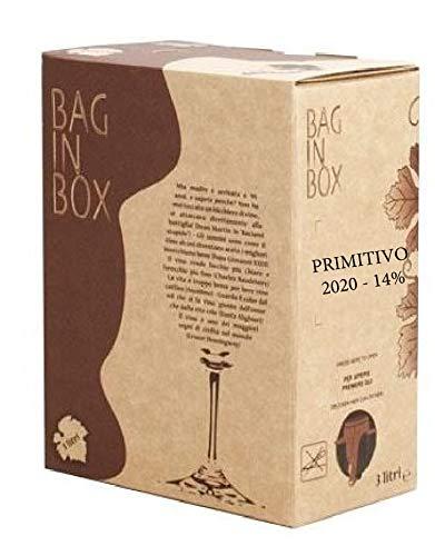 VINO PRIMITIVO IGP IGT bag in Box 3 L rosso CAMPANIA 14% Sfuso da Azienda Agricola