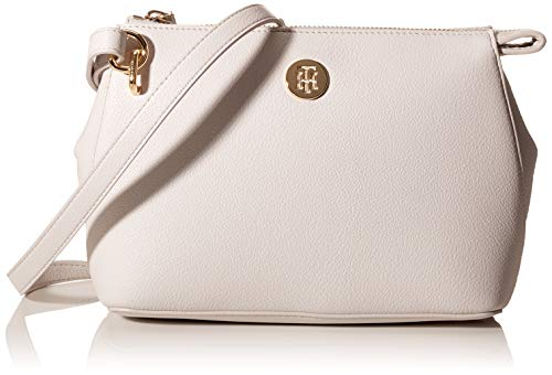 Tommy Hilfiger Damen Charming Tommy Crossover Umhängetasche, Grau (Light Cast), 1x1x1 cm
