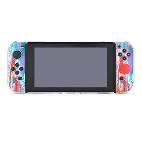 Winx- Club Case for Nintendo Switch with Screen Protector Slim Anti-Scratch Anti-Slip Protective Case Cover for Girls and Boys
