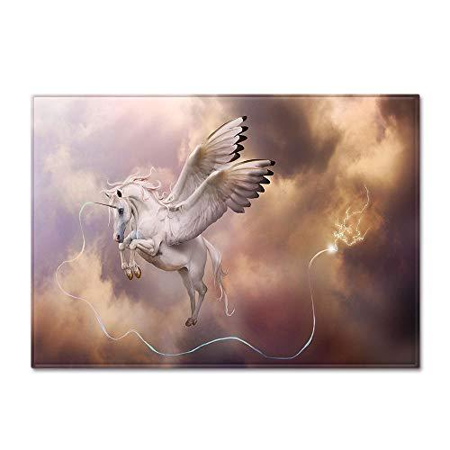 RGBVVM Tappeto Salotto Cavallo Angelo Angel 180 x 280 cm Tappeto Peluche, soffice Tappeto, Semplice Tappeto Decorativo Rettangolare Assorbente Antiscivolo per Salotto, cameretta, Sala, corridoio