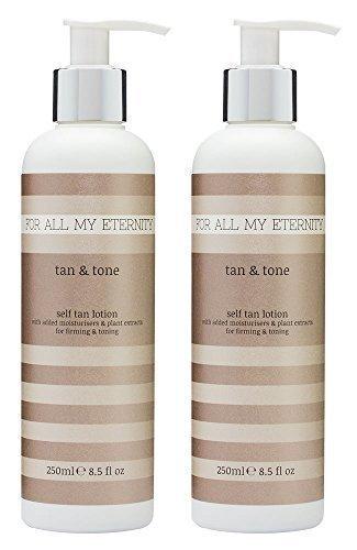 For All My Eternity Tan & Tone Firming Self Tan Lotion 2 x 250ml MULTIBUY....