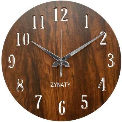 ZYNATY Reloj de pared de madera MDF con forma redonda, reloj de pared abierto (sin vidrio), sin marco de 11 pulgadas para decoración del hogar, cocina, sala de estar, dormitorio, oficina, regalo
