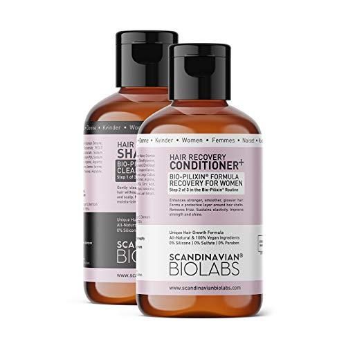 Scandinavian Biolabs Hair Strength Shampoo und Hair Recovery Conditioner für Frauen | Natürliche Formel zur Stärkung des Haares mit einer sanften Reinigung | Befeuchtet...