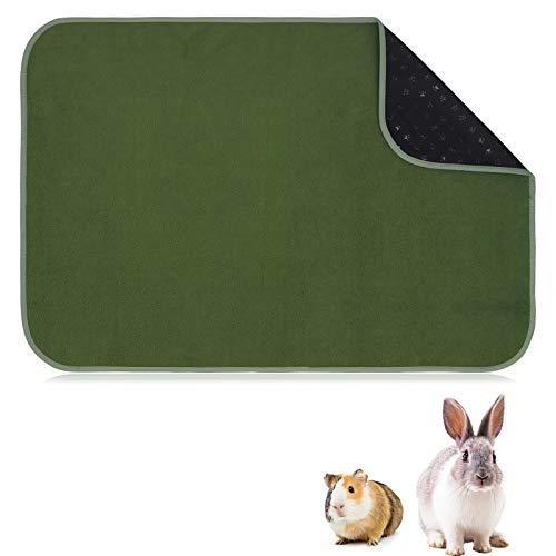 chengsan Bambusfleece-Liner für Meerschweinchenkäfig, Korallenfleecedecke für Kaninchen und Chinchillas, saugfähige Käfigmatte für kleine Tiere - Wiederverwendbare waschbare Fleece-Einlage, C & C 2x3