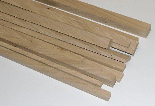 10 Bastelleisten Vierkantstäbe Eiche 1 Meter lang, sägerau, Modellbauleisten 20 x 5mm