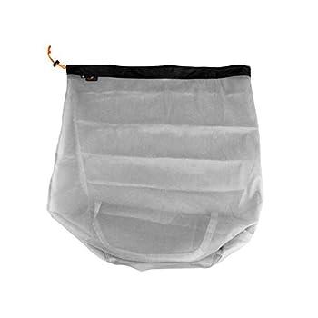 Sac de rangement en maille nylon avec cordon de serrage pour le camping, la randonnée