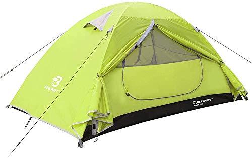 Bessport Tente Camping 1 Personne, Ultra Légère Tente Dôme Deux Portes, Facile à Installer...