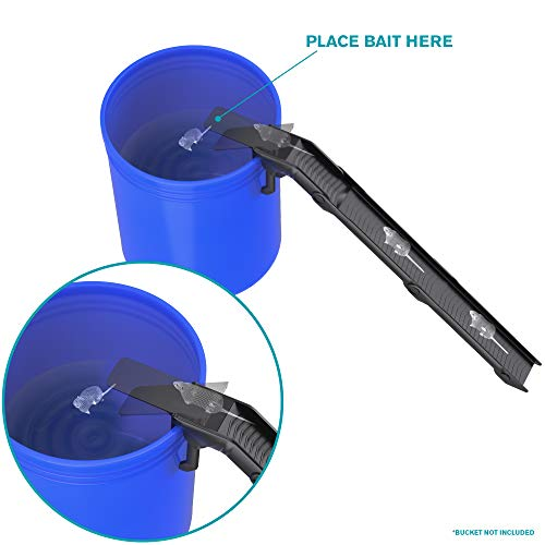 Hoont Walk the Plank Bucket Mouse Trap, Includes 2 Ramps - Commercial Grade Humane Mouse Trap Killer, Mice Exterminator Control for Indoor & Outdoor - Get Rid of Mice without Sticky Glue Trap & Poison