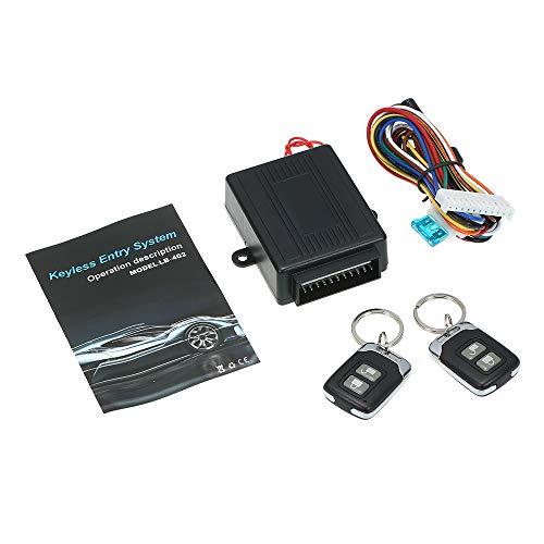 KKmoon Auto Zentralverriegelung mit Schlüssel Fernbedienung, Eingangssystem ohne Schlüssel Kit, Universel mit 2 Klappschlüssel
