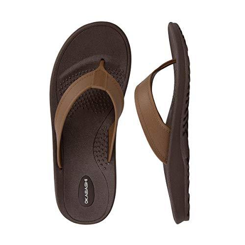 Okabashi Men's Mariner Flip Flop Sandals (Large,...
