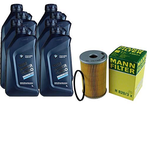 Inspektionspaket 8 L für BMW Öl TwinPowerTurbo 5W-30+MANN Ölfilter X6 F16 E71 E7