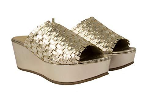 Zerimar damessandalen | Damesplatformsandaal | Leren sandalen met sleehak | Dames Wiggen Schoenen Leer | Platform schoenen vrouw leer