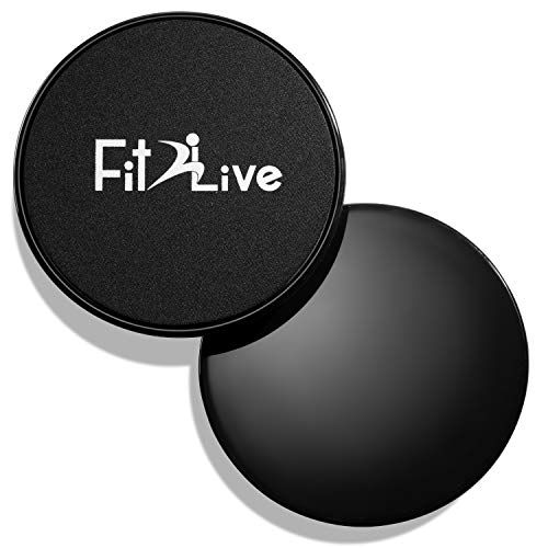 Fit2Live Gliding Discs (Fitness Exercise Sliders) 2 Pack - Abdominal, Strength, and Workout Slides for Home and Gym