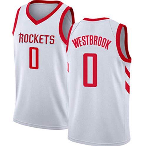 XHDH NBA Basketball Jersey Rockets 0# Westbrook Transpirable ABSORBLES DE ABSORTE DE ABSORTE DE ABSORTE DE ABSORTE BORREOIDERÍA EMPORTENCIA EMPORTENCIA Jerseys,White 1,XL 180~185cm