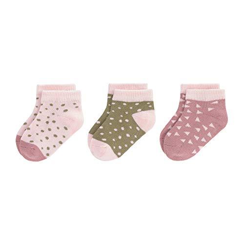 LÄSSIG Baby Kinder Sneaker Socken kurze Socken 3er Set GOTS 100% Bio-Baumwolle/Sneaker Socks...