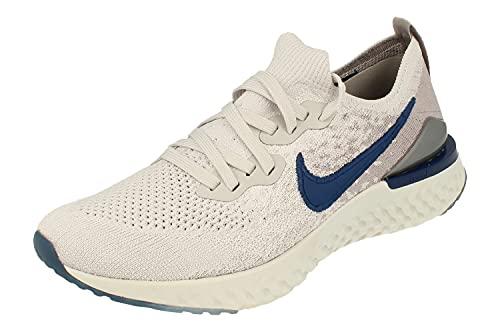 Nike Epic React Flyknit 2, Zapatillas de Atletismo Hombre, Multicolor (Vast Grey/Coastal Blue/Atmosphere Grey 015), 45 EU