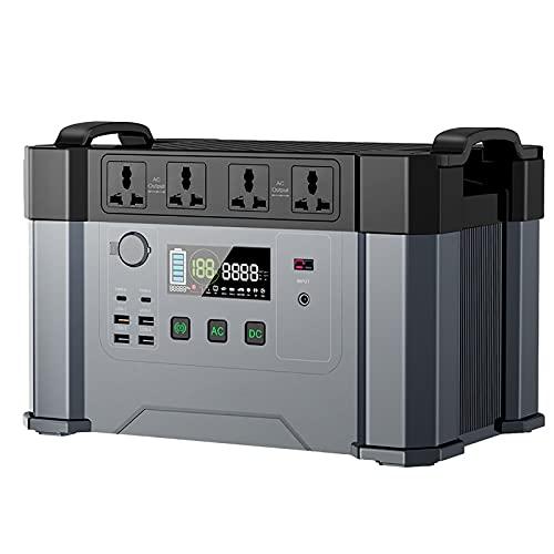 QCLU Central eléctrica portátil 1500WH / 405405MAH Generador de Gran Capacidad, batería de Respaldo con DC/AC/USB Puertos/Tipo-C Bluetooth App Control para al Aire Libre Picnic Pesca Drone Fiest