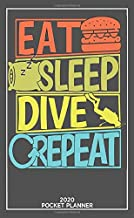Eat Sleep Dive Repeat 2020 Pocket Planner: 2020 Monthly Pocket Planner & Calendar (Jan 2020 - Dec 2020) Personalized Planner Phone, Email, Book A Memorable Gift For a Whole Year
