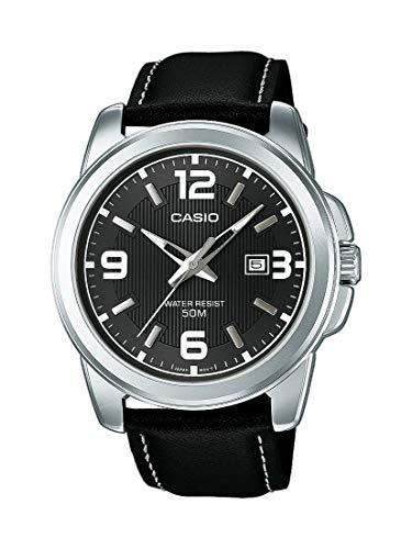 Casio Herren Analog Quarz mit Leder Armbanduhr MTP1314PL8A