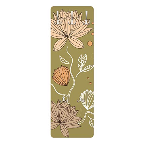 Perchero - Art Nouveau Flower 139x46x2cm, percheros, Perchero de Pared, Perchero Pared, percheros Pared, percheros Modernos
