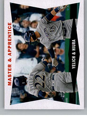 2020 Topps Archives 1960 Combo Cards #60CC-YH Keston Hiura/Christian Yelich Milwaukee Brewers (Master and Apprentice) MLB Baseball Card NM-MT