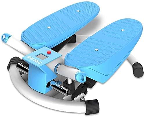 Máquina para Adelgazar Stepper Home Máquina elíptica Escalador Fitness Equipo de Fitness Adelgazamiento del pie Peso del pie 120 kg (Color: Azul Tamaño: 40 * 46 * 18 cm)