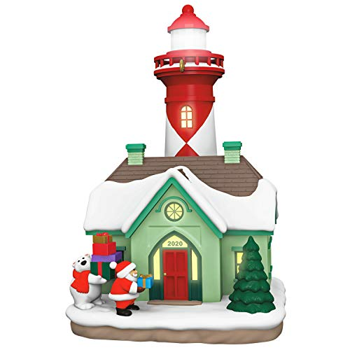 Hallmark Keepsake Christmas Ornament 2020 Year-Dated, Holiday Lighthouse, Light-Up
