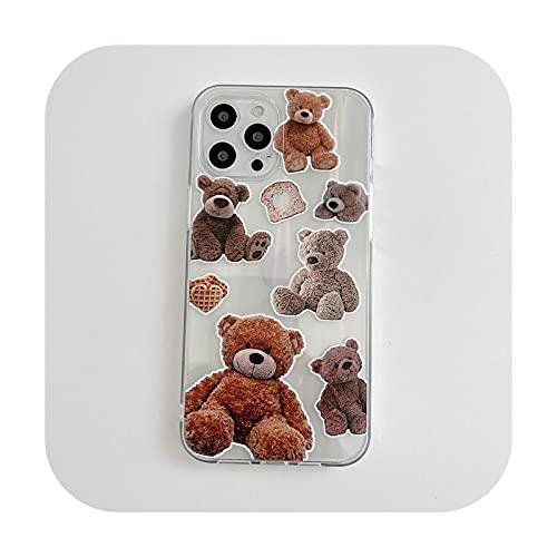 Funda para iPhone 12 11 Pro Mini XS Max X XR 7 8 Plus SE2020 Laser Rainbow Clear Soft Back Cover con tarjeta láser 4-para iPhone Xs MAX
