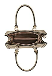 Mia K. Collection Crossbody for Women Satchel Shoulder Bag, Adjustable Strap, PU Leather, Top-Handle Purse Gold-Tone Hardware Coffee