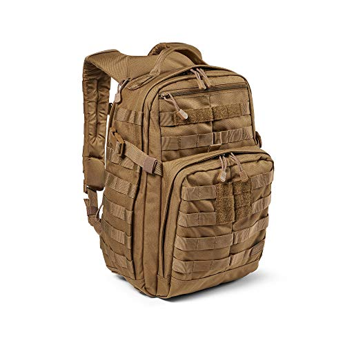 5.11 Tactical Backpack – Rush 12 2.0 – Military Molle Pack, CCW and Laptop Compartment, 24 Liter, Small, Style 56561 – Kangaroo