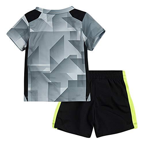NIKE Boys' 2-Piece Short Set Outfit - Black/Gray, 4t