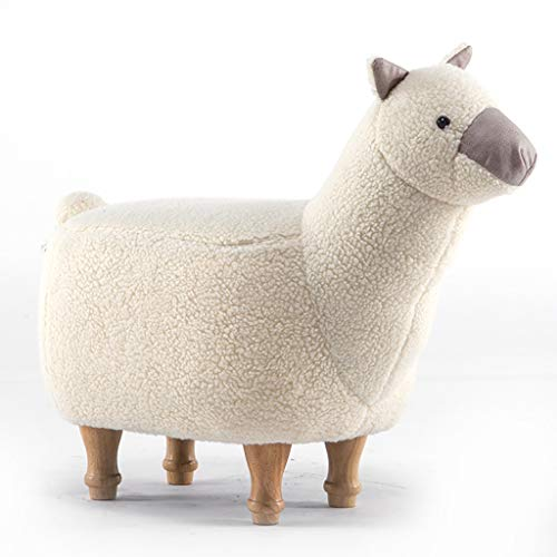 GEIFD IGE Alpaca zittende kinderstoel stoel persoonlijkheid lage kruk voetbank bank bank test schoenen kruk