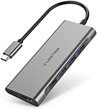 LENTION USB C Multi-Port Hub with 4K HDMI, 4 USB-A, SD 3.0 Card Reader, Type C Charging Adapter Compatible 2020-2016 MacBook Pro 13/15/16, New Mac Air/Surface, Chromebook, More (CB-C36, Space Gray)