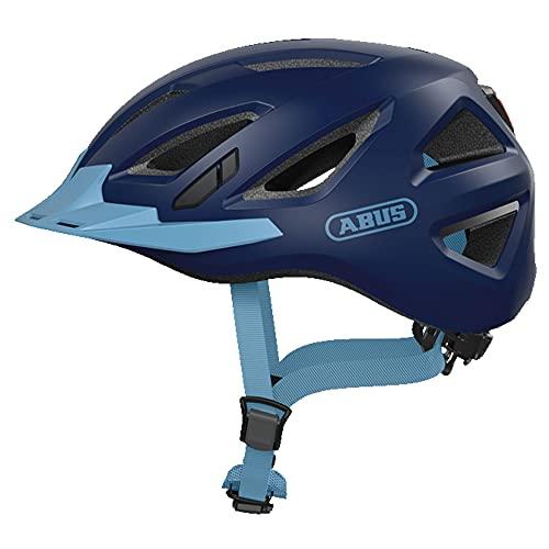 ABUS Urban-I 3.0 Stadthelm - Fahrradhelm mit Rücklicht für den Stadtverkehr - für Damen und Herren - 86881 - Dunkelblau, Größe XL