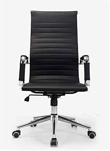 LIUBINGER Silla de Oficina Silla de Oficina Faux Cuero de Madera Ergonómico High Back Executive Home Screen (Color : Black, Size : 61x50x106cm)