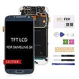 srjtek pour Samsung Galaxy S4 I9500 écran LCD,pour Samsung Galaxy S4 2013 GT-I9500 TFT LCD écran,S4 Affichage LCD écran Tactile Numériseur Verre Capteur Pièces De Rechange Réparation (Bleu)