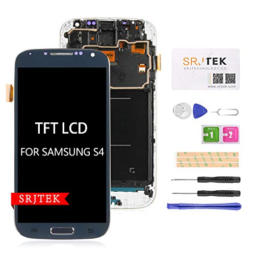srjtek - Schermo di Ricambio per Samsung Galaxy S4 i9500, Schermo LCD TFT per Samsung Galaxy S4 2013 GT-I9500 Let GT-I9500, Colore: Nero