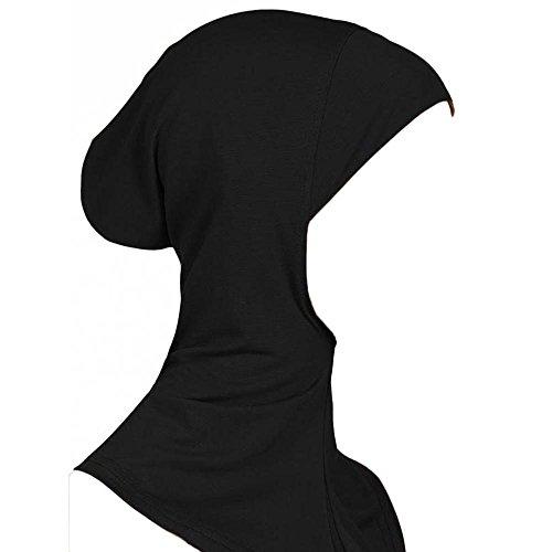 Bluelans® Mode Islamisch Kopfbedeckung Turban Band Hals Brust Bedecken Motorhaube Hijab (Black)