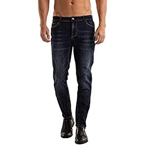 Men's Slim-Fit Stretch Jeans Straight Leg Comfort