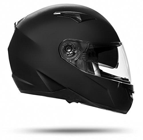 ATO Helme 700 Toronto Schwarz matt M 57cm bis 58cm Integralhelm mit Doppelvisier System und der neusten Sicherheitsnorm ECE 2205