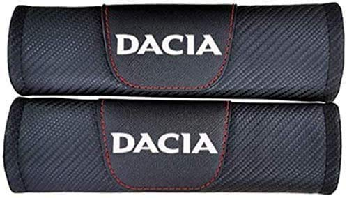 2 Piezas Almohadillas para Cinturón de Seguridad para Renault Dacia Duster, con Marca de Logo Protectores Hombro Funda Acolchada CóModas Coche Interior Accesorios